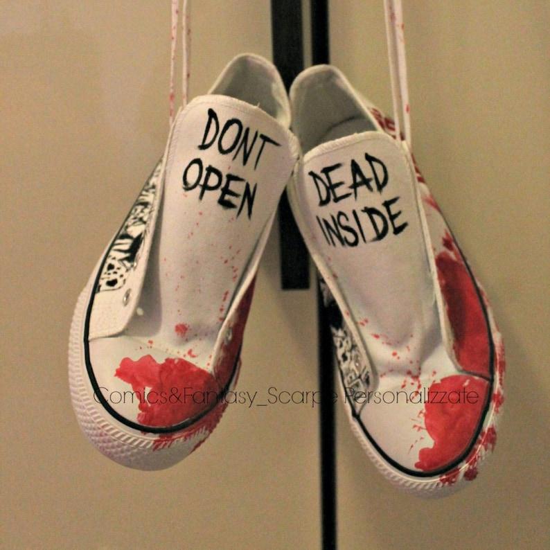 55acdea57771 The Walking Dead Custom Shoes