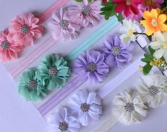 Baby Headband Girl Flower Hair Band FOE Elastic Stretchy Newborn Photo Prop Free Postage