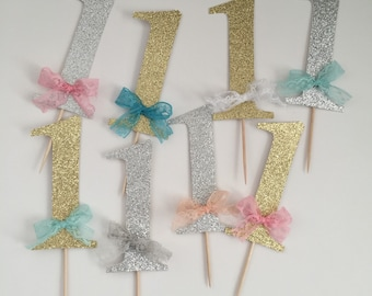 Glitter Number One Cake Topper