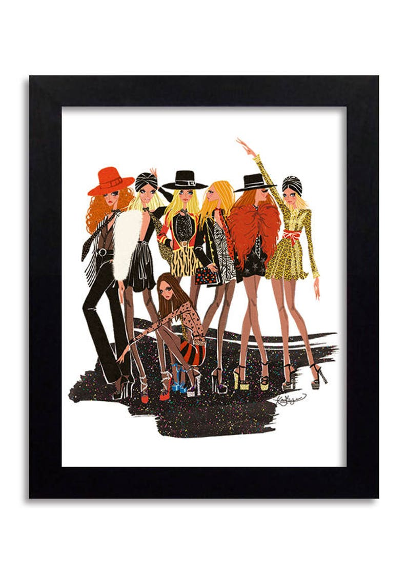 068181992a9 YSL Yves Saint Laurent Fashion Illustration Print Fashion