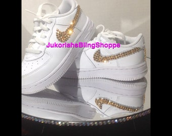 Custom Bling Nike Air Force Ones Bling infant baby Shoes Swarovski Nike Air  Force Ones 604e27541