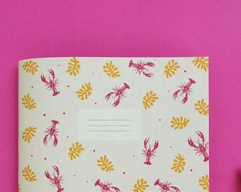 Lobster notebook / memo book lobster