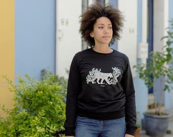 Organic cotton sweat Panther unisex