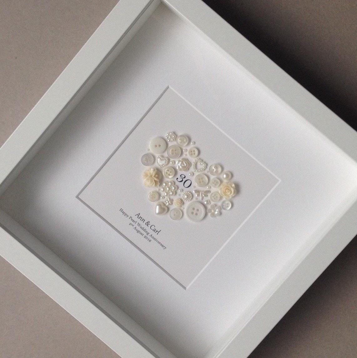 30th Anniversary Gift Pearl Wedding Anniversary 30th Wedding Etsy