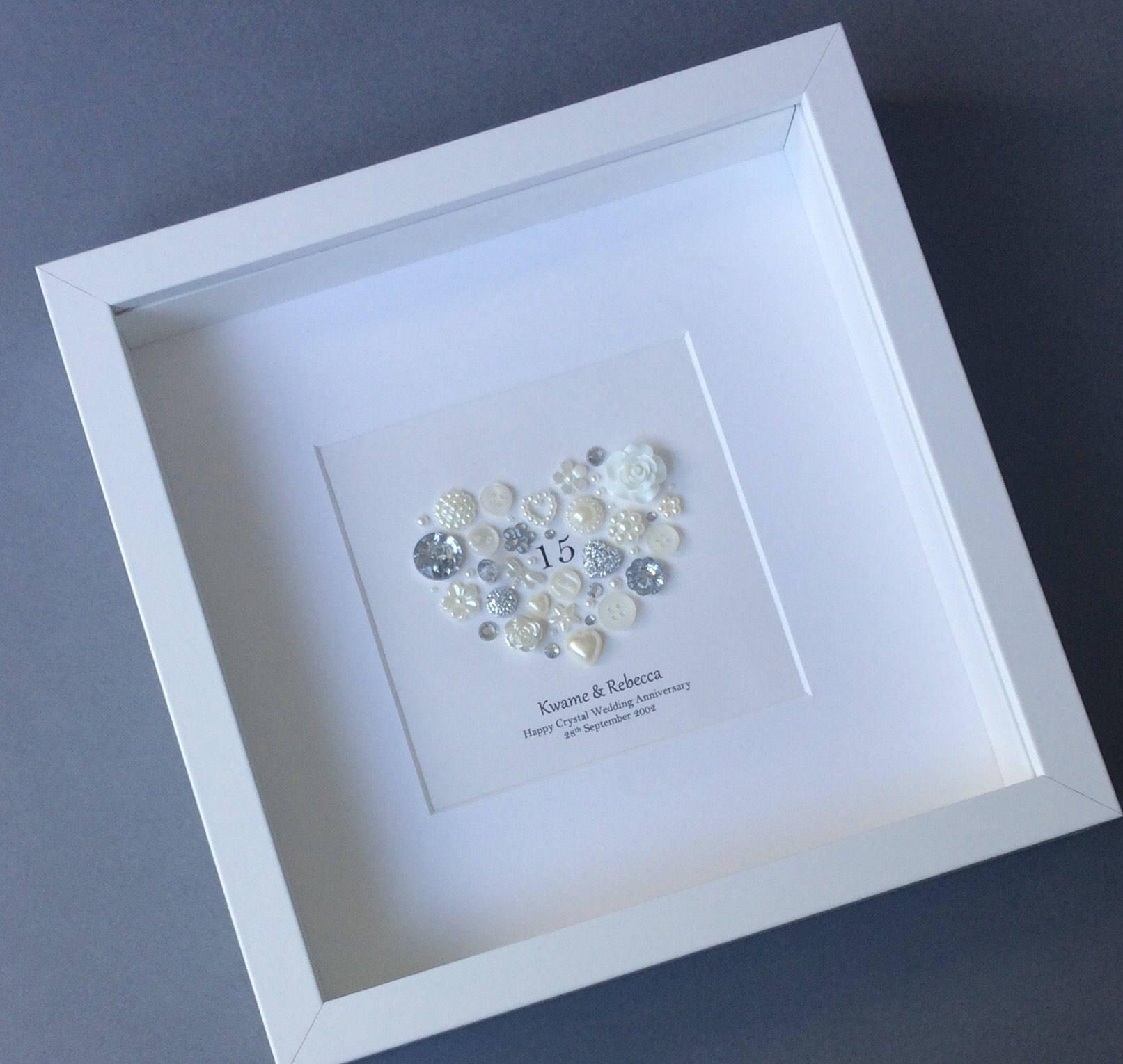 15 Year Wedding Anniversary Gift Crystal: 15th Wedding Anniversary Gift Crystal Anniversary Frame