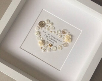 Golden Anniversary Gifts, 50th Anniversary, 50th Wedding Anniversary, Golden Wedding Anniversary Present, Anniversary Gift Ideas, Golden Art
