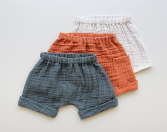 Easy Woven Harem Shorts PDF Sewing Pattern