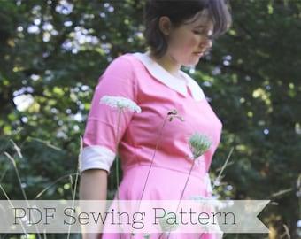 Suzy Bishop PDF Sewing Pattern - Moonrise Kingdom, Dress, Peter Pan Collar, 60s, Mod