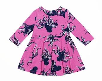 Easy Long Sleeve Baby Dress PDF Sewing Pattern