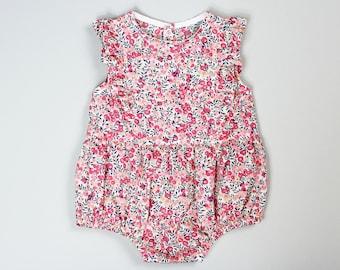 Ruffle Romper PDF Sewing Pattern- kids patterns, baby romper pattern, sunsuit, baby girl, jumper, toddler