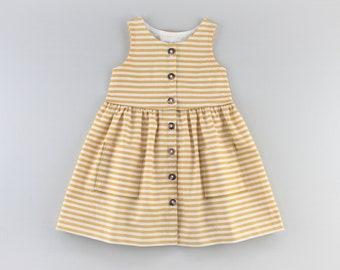Baby Sunflower Dress PDF Sewing Pattern