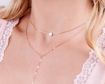 Opal Choker, Rose Gold Choker Necklace, Opal Necklace, Pink Opal Necklace, Dainty Choker, Delicate Rose Gold Necklace, Opal Jewelry White