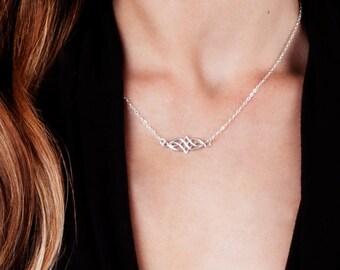 Silver Necklace, Celtic Necklace, Dainty Necklace, Sterling Silver Necklace, Silver Layered Necklace, Celtic Jewelry, Boho Necklace Gold