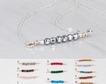 Gemstone Bar Necklace, Bridesmaids Necklace, Birthstone Choker Necklace, Gemstone Necklace, Gem Necklace, Birthstone Necklace, Silver, Gold