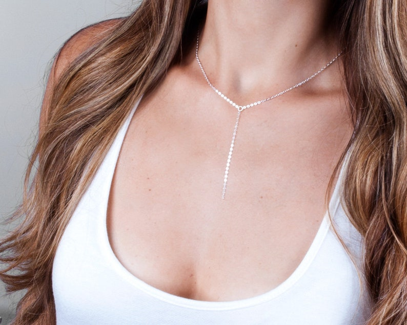 Rose Gold Layered Necklace Set Multi Layer Necklace Y lariat and Opal Cross Choker Necklace Gold NL23 Sterling Silver Necklace Set 2