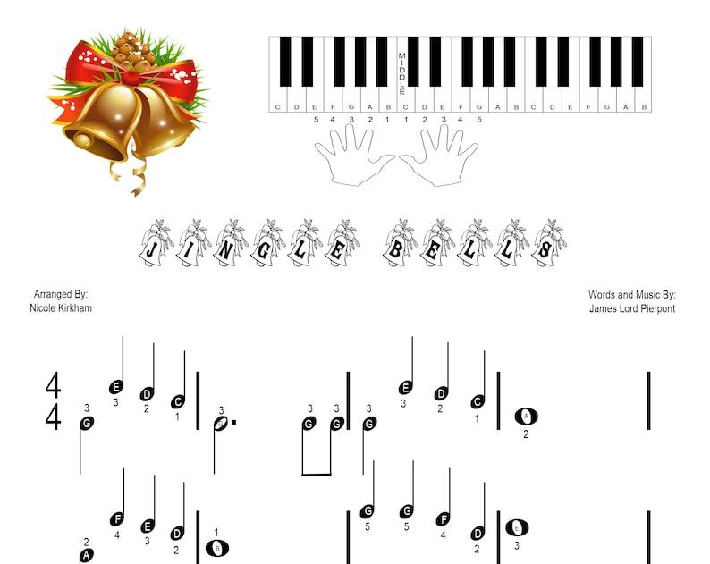 Jingle Bells - Beginner Piano Sheet Music