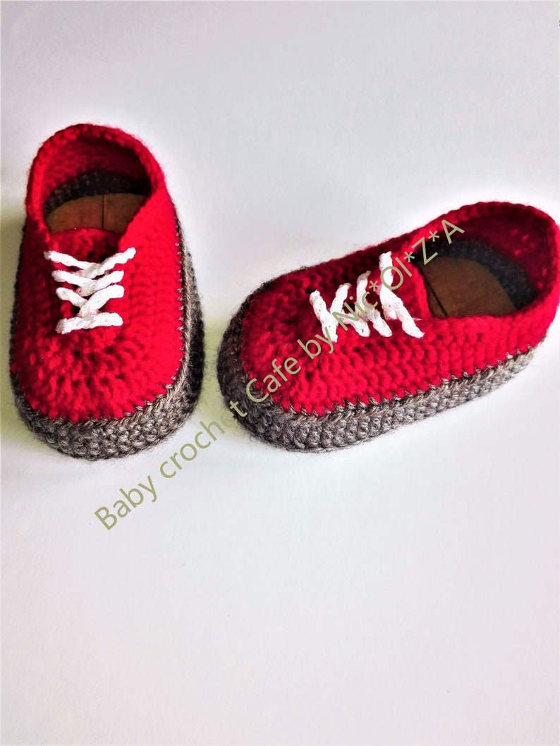 6bbd400947e0a Baby shoes, crochet baby sneakers, classic VANS style, vans style baby  crochet, newborn sneakers, baby booties, crochet shoes, shower gift