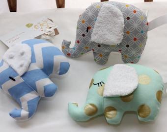 Elephants - baby gift, rattle, toy