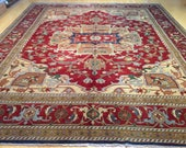 11 39 .11 quot x 14 39 .11 quot Traditional Geometric Design Handmade Hand knotted Oriental 100 Wool Tribal Rug CW-464