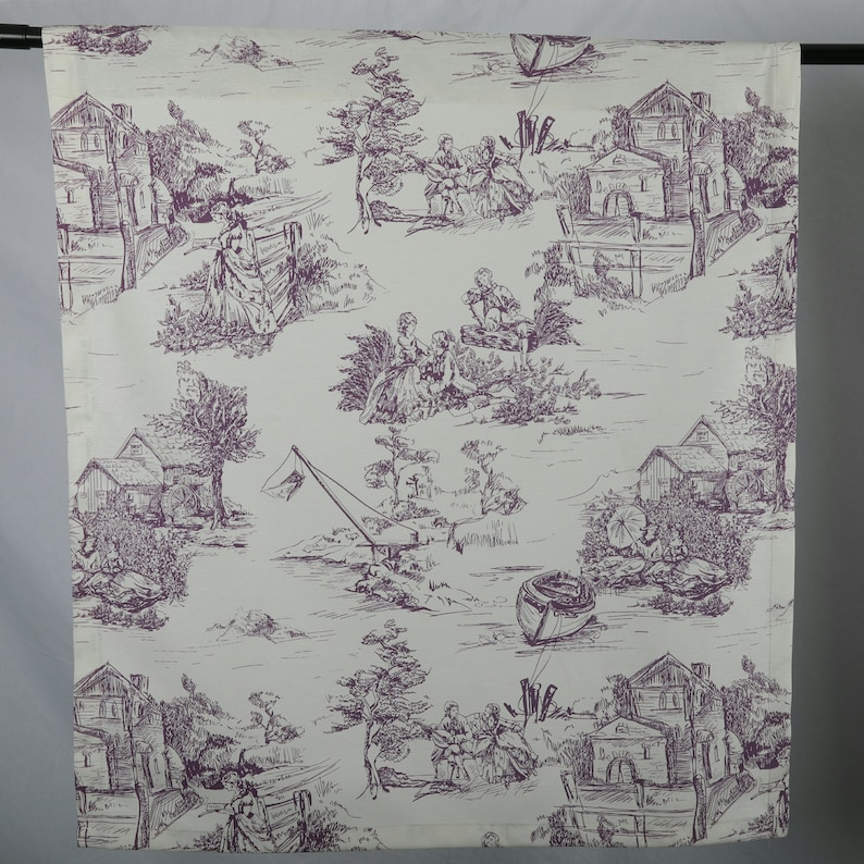 Toile Curtains Blue Curtains French Toile Custom Curtains Living Room Curtains Toile De jouy French Country Home Victorian Curtains