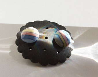 Rainbow hope porcelain stud earrings Ceramic Pottery jewelry Stainless steel or sterling silver ear posts Ceramic studs Gift earrings