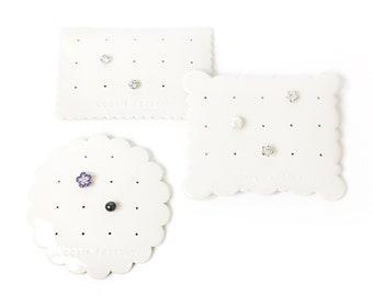Porcelain earring holder Ceramic earring holder Stud holder Earring display Jewelry display Wife gift Cookie Factory