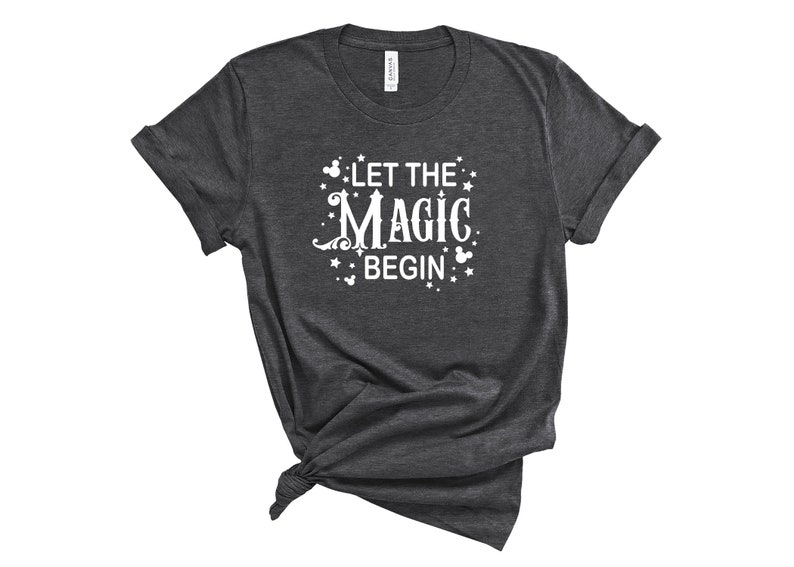 Let the Magic Begin Mickey Inspired Disney Vacation T-Shirt image 0