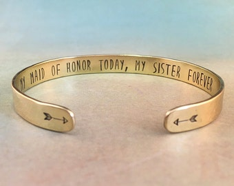 Maid of Honor Proposal Sister, Maid of Honor Gift Sister, Gift for Maid of Honor, Maid of Honor Bracelet, Will you be my  maid of honor