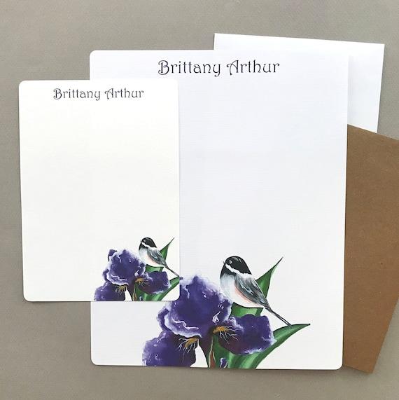 Personalized Stationary Set Notecards Custom Note Card Gift Set Stationery Set Personalized Stationery Custom Bird Stationery
