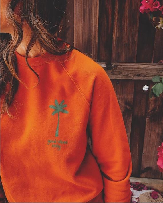 Rust raglan pullover