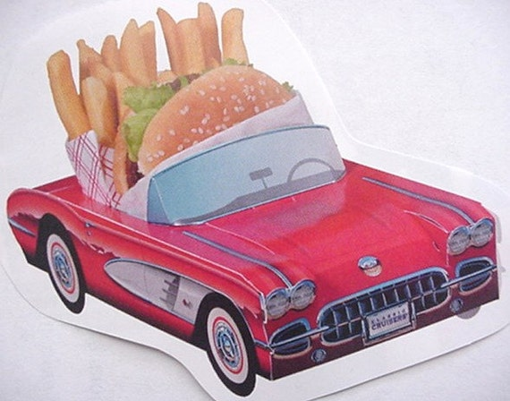 36 ~ Assorted Classic Cardboard Cars Party Planner Kids Food Tray Favor  Gift
