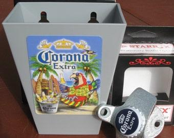 FREE SHIP Corona Custom Beer Cap Catcher and Bottle Opener Set