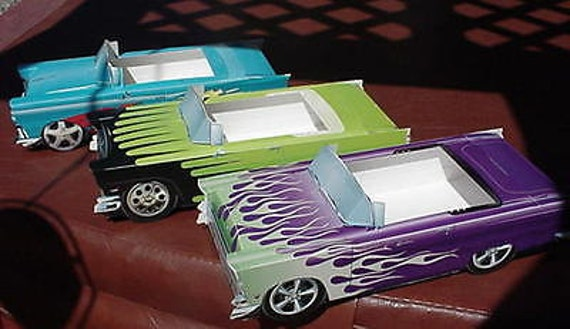 6 ~ Classic Ford Cardboard Cars Kids Food Box Tray  Party Favor Table Center