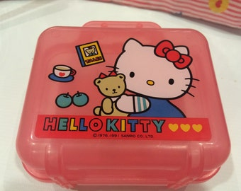 886ca126b5f9 Vintage Hello Kitty plastic bag 1991 Sanrio made in Japan