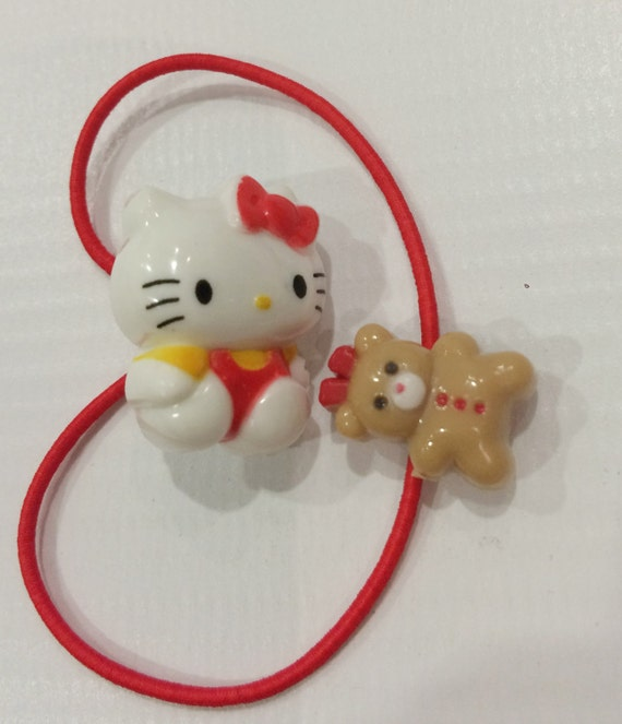 926a7f378733 Vintage Hello kitty Sanrio ponytail holder made in Japan 1986