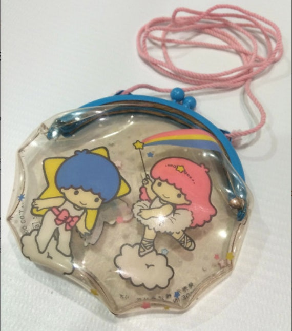 68335d50db13 Vintage Little Twin Stars Sanrio purse bag made in Japan 1987