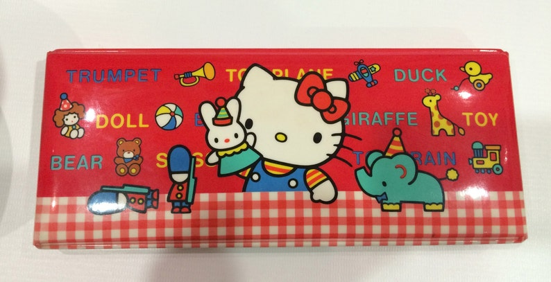 26d1c8b22ee9 Vintage Hello Kitty Pencil Case 1984 Sanrio made in Japan