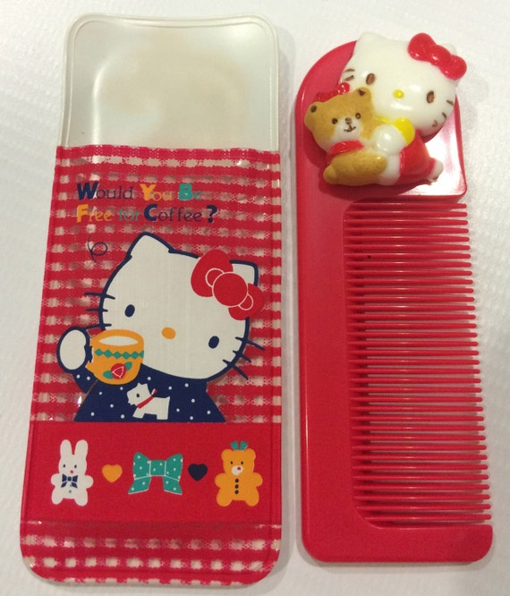 e92d017ecf32 Vintage Hello Kitty Sanrio comb made in Japan 1987