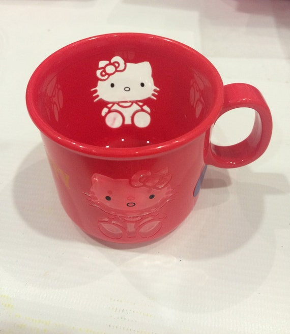 51a2e3d94ae1 Vintage Hello Kitty cup 1991 Sanrio made in Japan