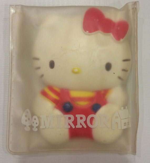 d84ad7af04d6 Cute vintage Hello Kitty small mirror 1986 Made in Japan