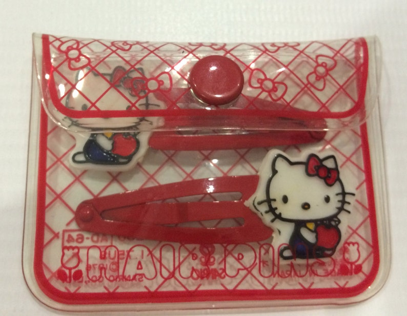 34be6cbff81c Vintage Hello Kitty Sanrio hair pins made in Japan