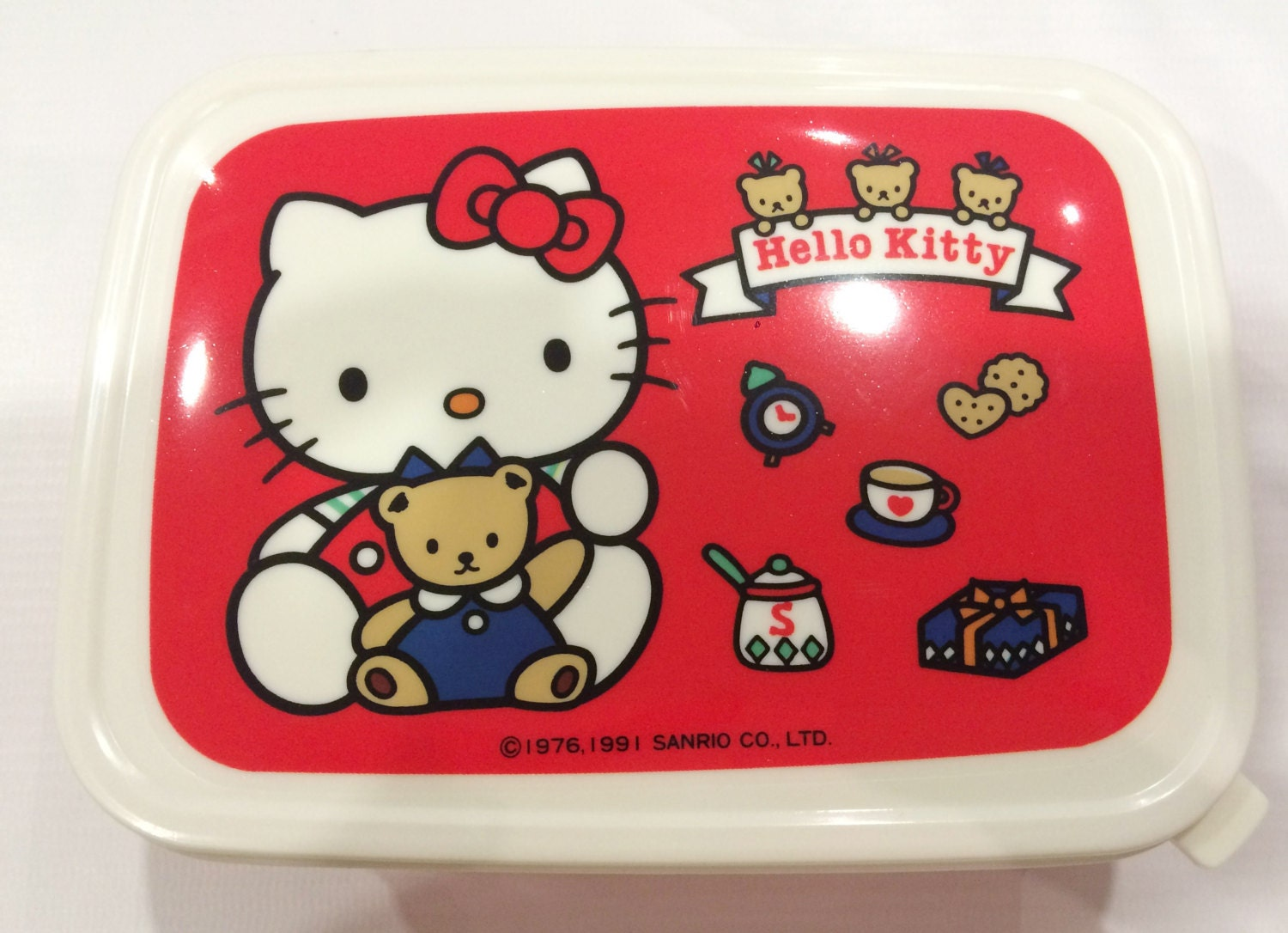 fcbc7c4fd917 Vintage Hello Kitty lunch box 1991 Sanrio made in Japan