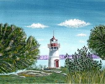 Crossover Island Lighthouse - 1000 Islands - By Jeff Hebert