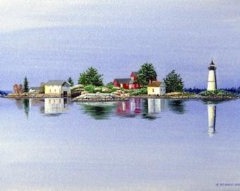 Rock Island Morning - 1000 Islands, NY - by Jeff Hebert