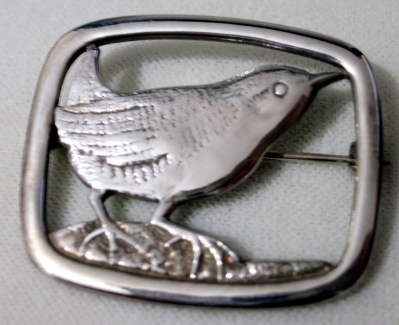 1976 Scottish Silver Bird Brooch /'Shetland Wren/'