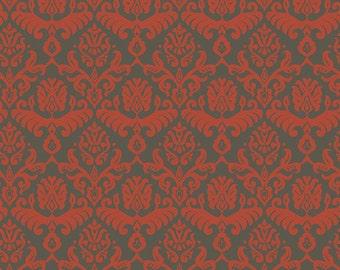 Traditions Red/Slate Hemp fabric