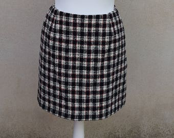 Vintage wool check skirt, 1990s