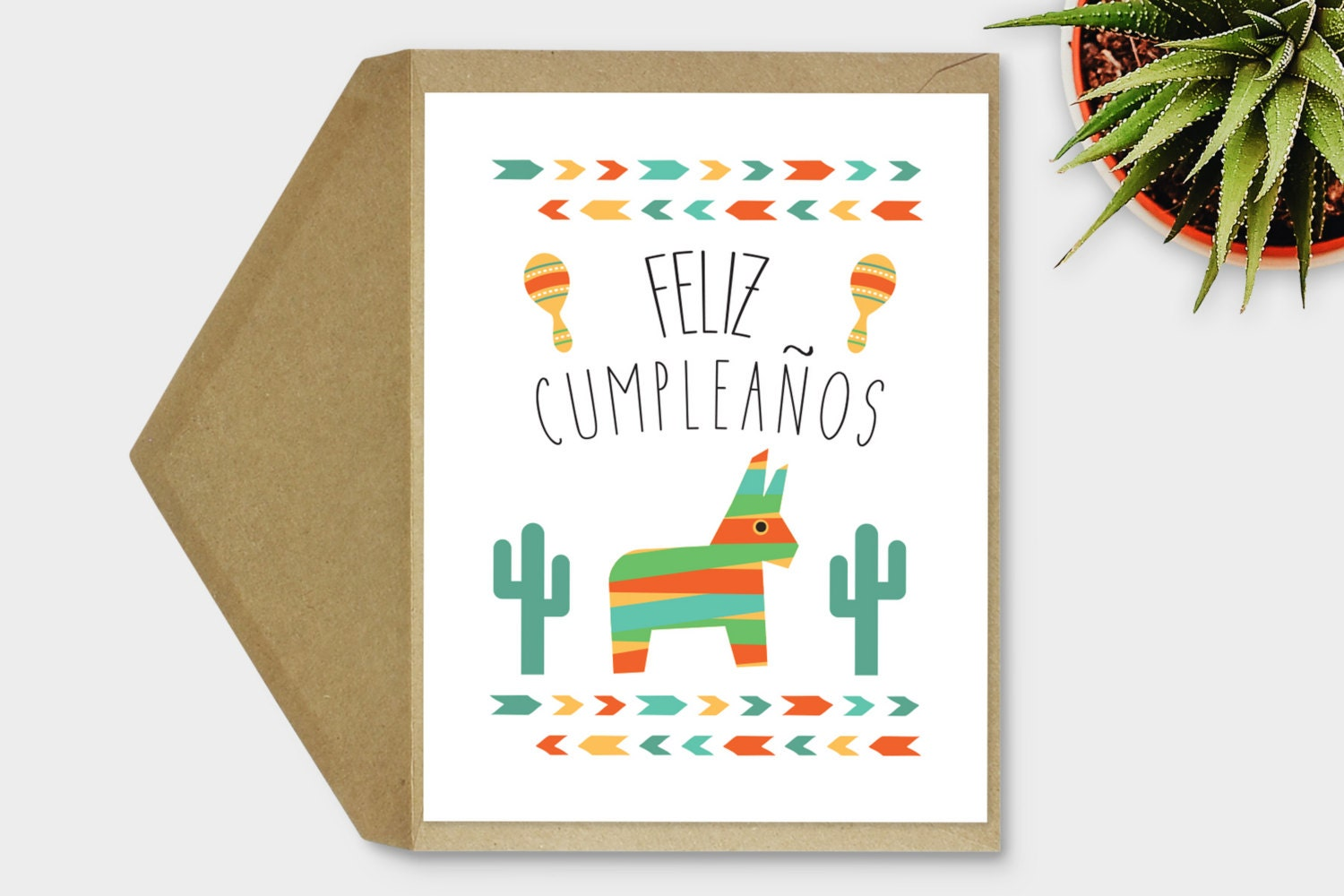 Printable Feliz Cumpleaos Card Spanish Birthday Card Etsy