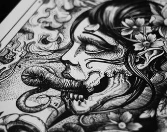 Image of: Gothic Art Art Printtattoo Printwall Art Printdark Artgothic Artgothic Printskull Artskull Printskullhorror Arthorror Printhalloweenhorror Aliexpress Items Similar To Tattoo Printtattoo Artart Printwall Art Print
