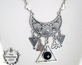 Gothic pendant etsy tribal witch pendant gothic pendant gothic necklace occult necklace charm aloadofball Gallery